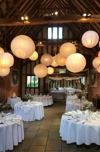 Suffolk barn wedding venue lay out and decoration