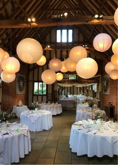 Suffolk wedding venue lay out - wedding breakfast