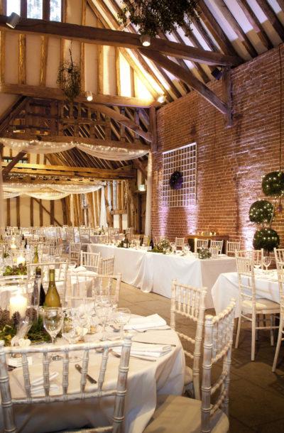 Wedding venue Suffolk - Christmas wedding