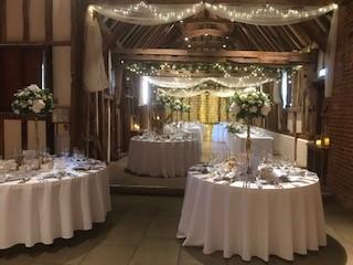 Barn wedding venue Suffolk - wedding reception