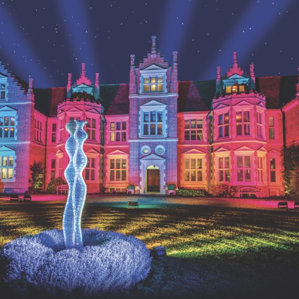 Light show event at Haughley Park in Suffolk