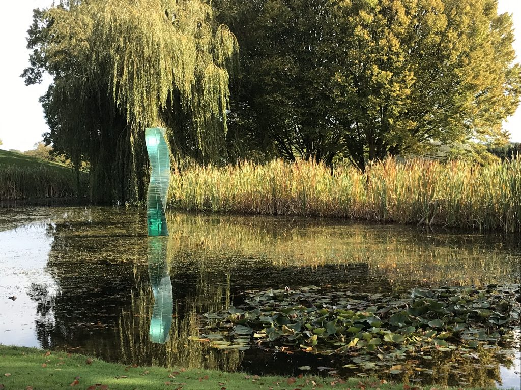 Danny Lane glass sculptures at Haughley Park